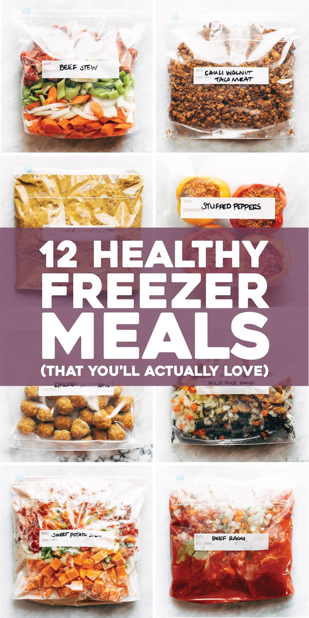 12 Healthy Freezer Meals That You Ll Actually Love Pinch Of Yum