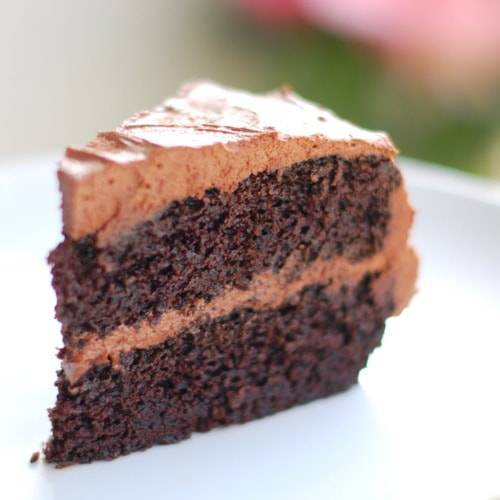 Double Chocolate Cake with Buttercream Frosting - Pinch of Yum