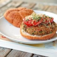 Super Healthy Bean Burger | pinchofyum.com