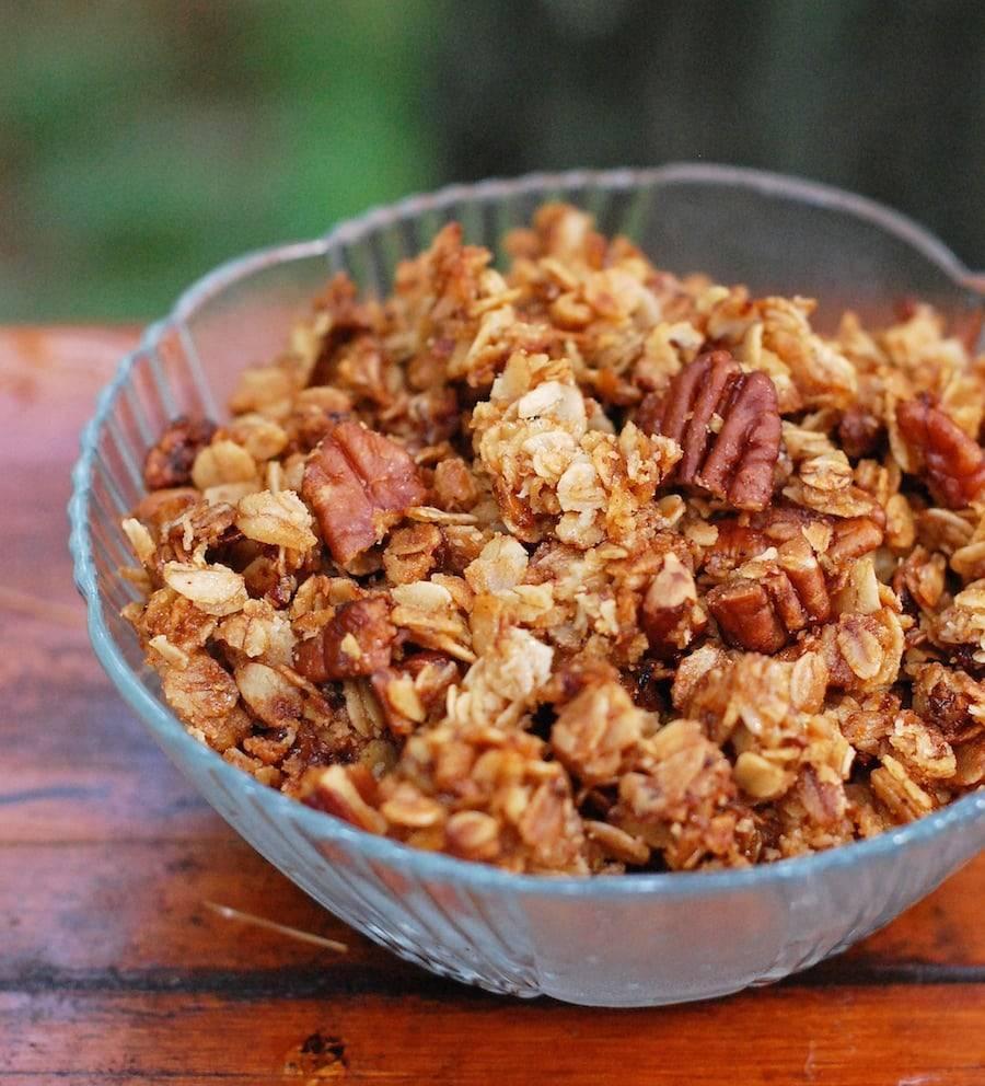 Granola in a bowl.