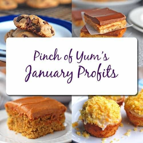 Pinch of Yum January Profits.