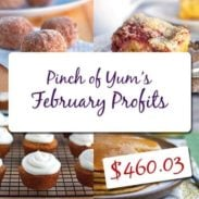 Making Money from a Food Blog - February Income Report