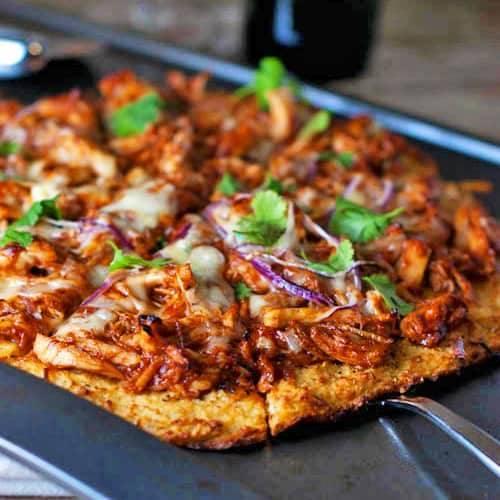 Light Bbq Chicken Pizza Recipe Pinch Of Yum