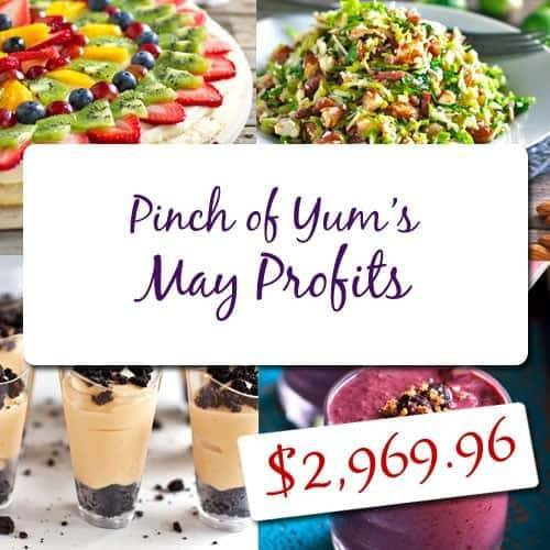 Pinch of Yum's May Income Report