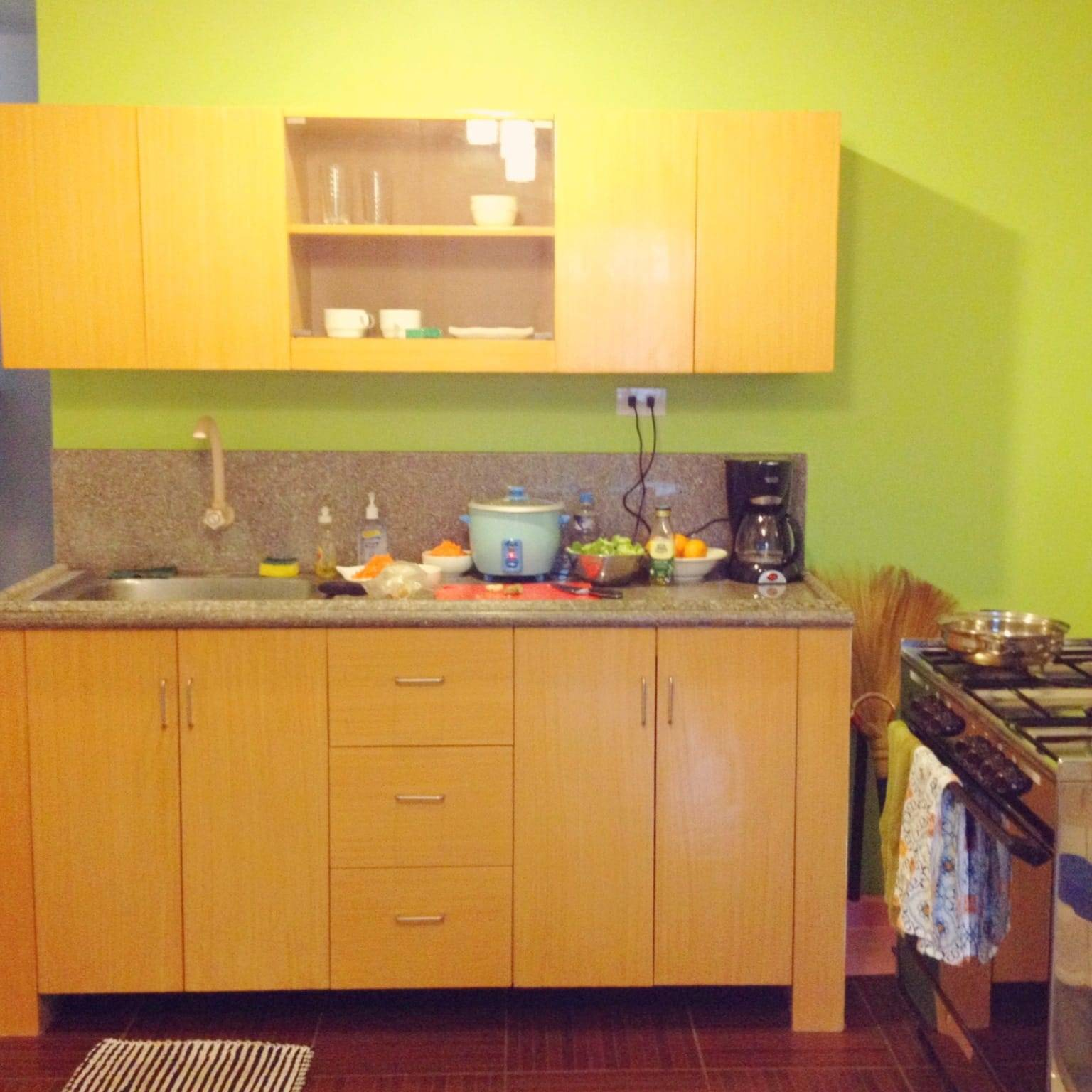 Small apartment kitchen.