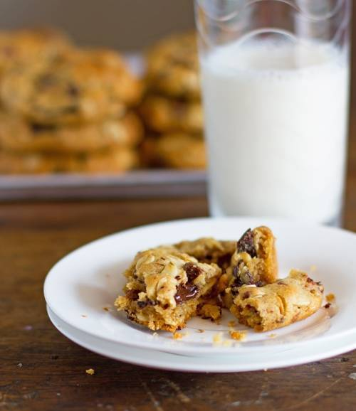 Peanut Butter Oat Cookies on a plate