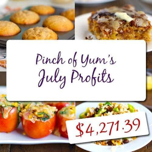 Making Money from a Food Blog - July