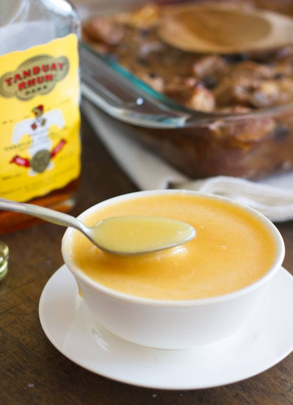 Rum sauce for bread pudding recipes