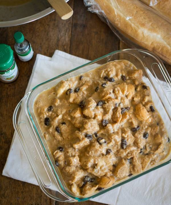 This bread pudding with hot butter rum sauce is the best bread pudding I've ever had! The sauce alone will change your life. | pinchofyum.com