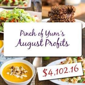 Food Blog Income - August 2013