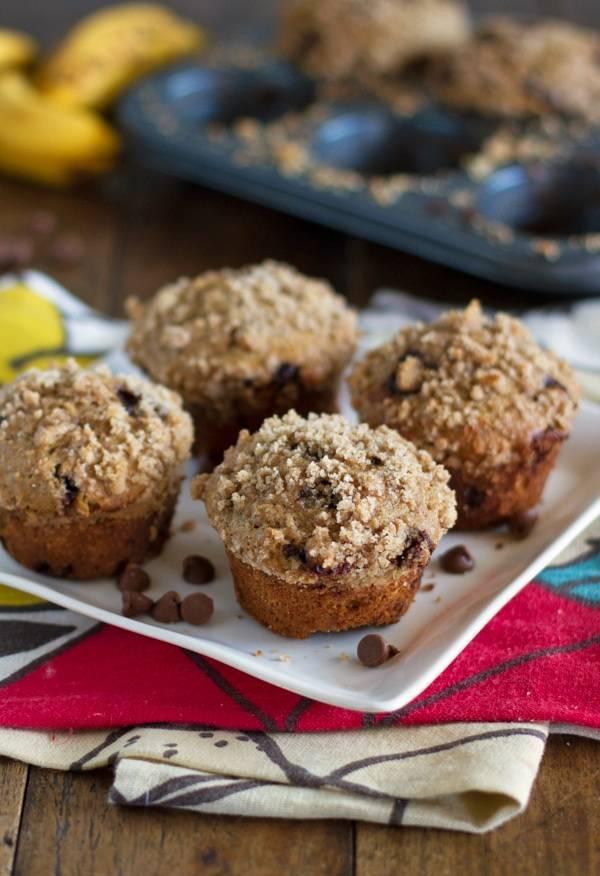 Chocolate Chip Banana Peanut Butter Muffins | Minnesota BakerMinnesota ...