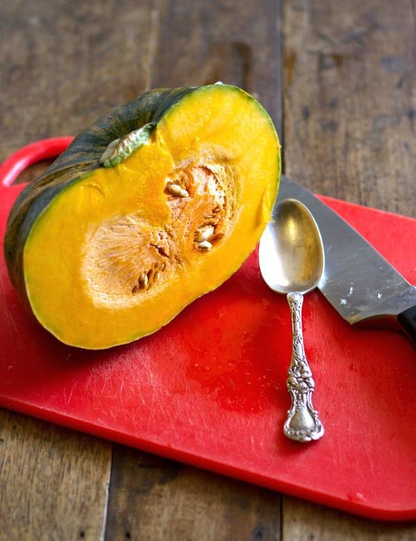Ever wondered how to cut and peel a kabocha squash? Follow my step-by-step instructions to prep your squash before adding to a recipe! pinchofyum.com