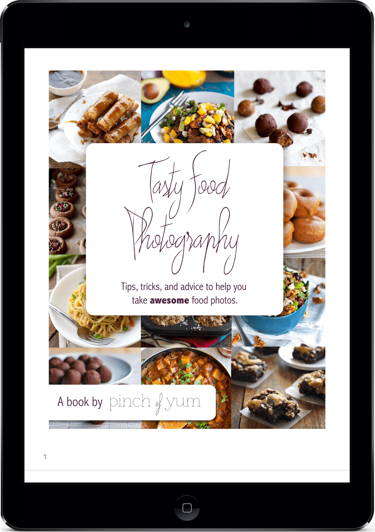 Tasty Food Photography on an iPad