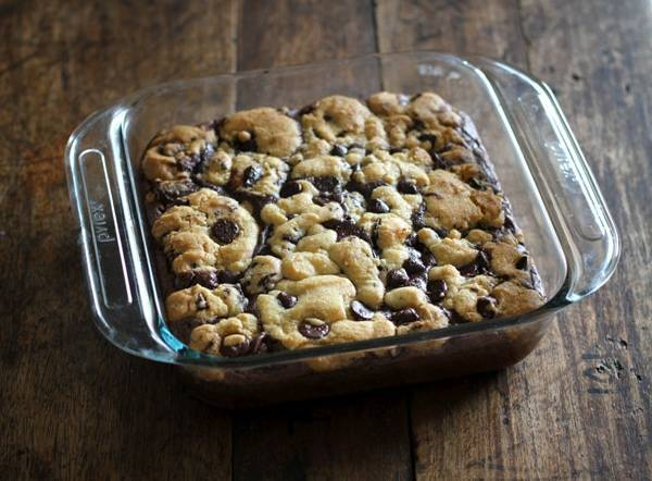 Chocolate Chip Cookie Brownies Recipe Pinch Of Yum