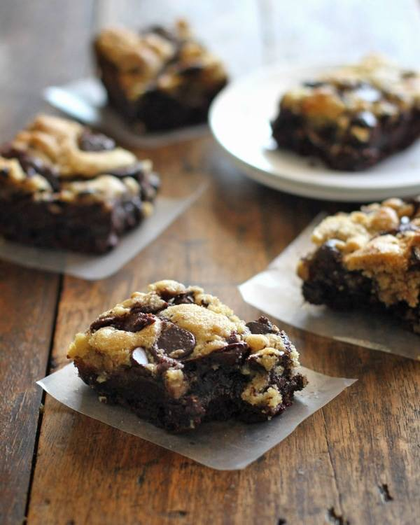 Cookie brownies.