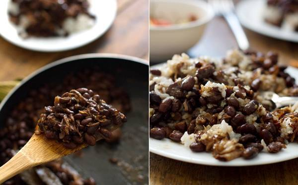 This crockpot pork adobo with black beans is so easy! The garlic, brown sugar, soy sauce, and vinegar make for the BEST flavor.   pinchofyum.com
