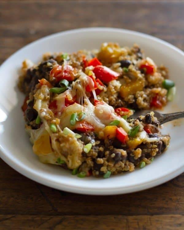 Quinoa Black Bean Casserole.