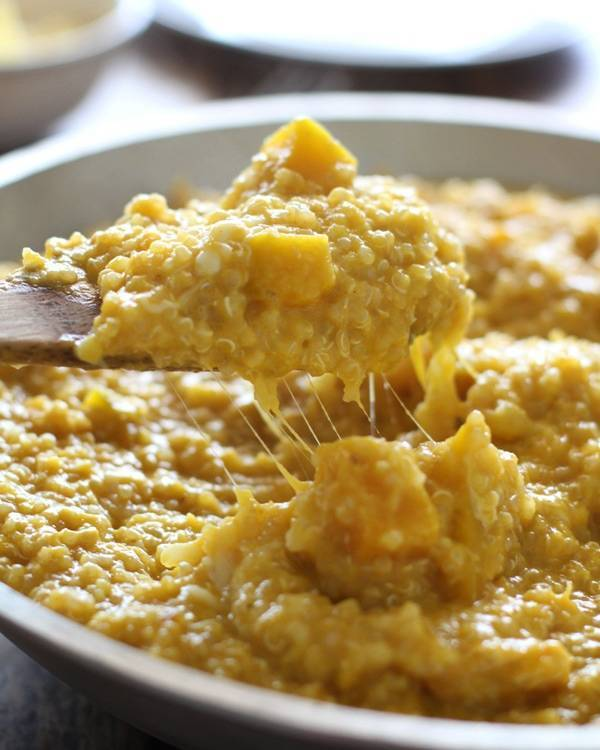 This creamy squash curry quinoa is the best way I've ever prepared quinoa - so creamy and filling, and a healthy comfort food! | pinchofyum.com