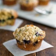 Oatmeal Flax Blueberry Muffins