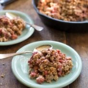Paleo Strawberry Rhubarb Crisp