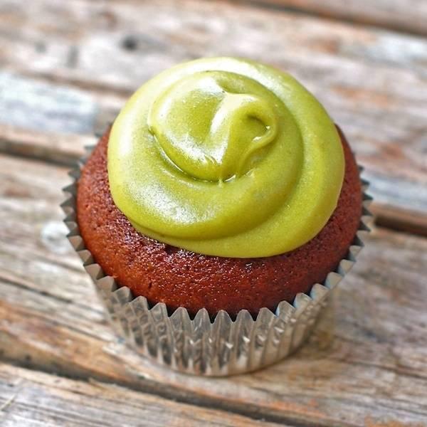 Milk Chocolate Cupcakes with Avocado Buttercream | pinchofyum.com