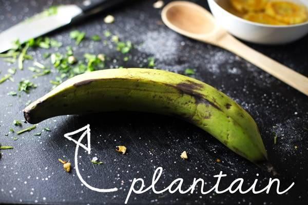 Green plantain.