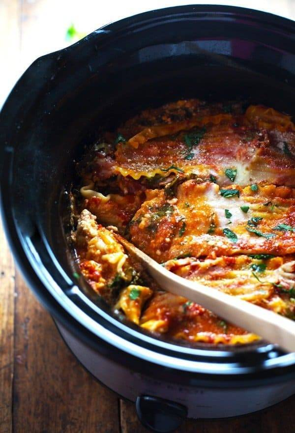 Captivating This Skinny Veggie Crockpot Lasagna Is Packed With Good For You Veggies And  Super