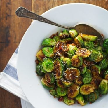 Simple Caramelized Brussels Sprouts - golden brown, just crispy enough, 20 minutes to make.   pinchofyum.com
