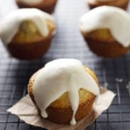 Lemon Muffins with Chia Seeds and Honey Glaze - extremely moist, bright flavor, and that glaze. ♥ | pinchofyum.com
