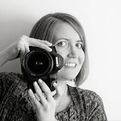 Kiersten from Oh My Veggies with a camera.