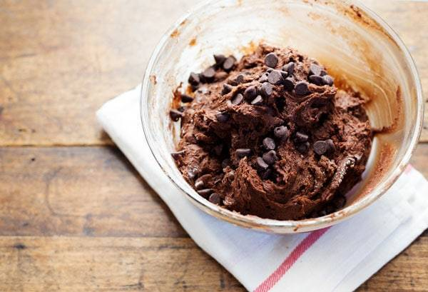 Thick and Fudgy Double Chocolate Cookie dough.