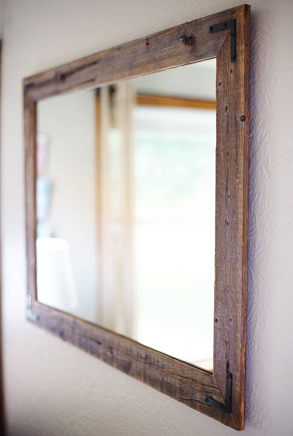 Reclaimed wood mirror.