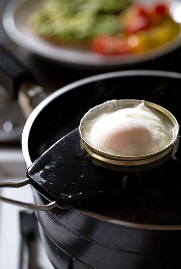 This simple poached egg trick makes the perfect soft yolk every time! | pinchofyum.com
