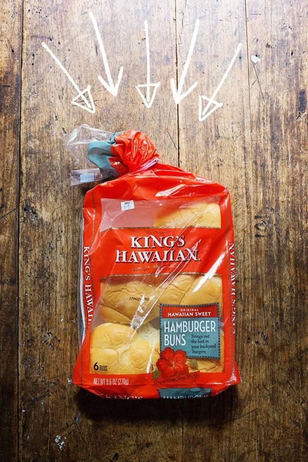 Kind's Hawaiian Hamburger Buns.