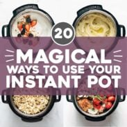 Food in Instant Pots with text that says how to use your Instant Pot.