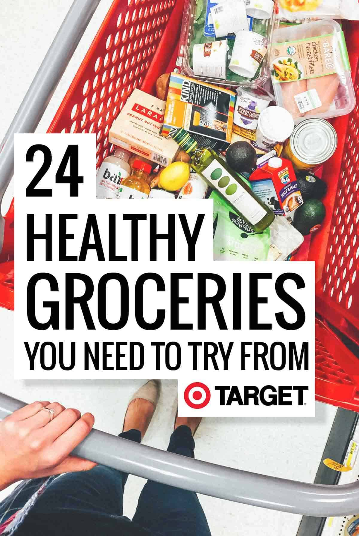 24 Healthy Groceries You Need To Try From Target! Organic real food snacks, refined sugar free pantry essentials, and more. This is a list of the most awesome healthy foods to buy at Target!