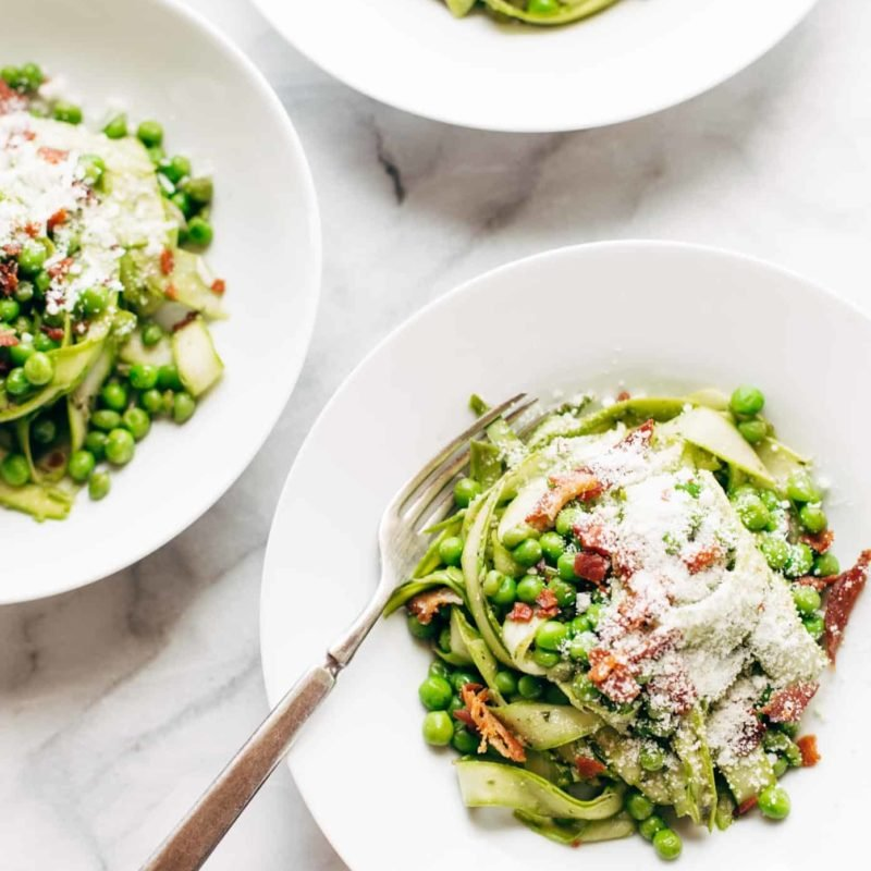 A picture of Pesto Asparagus Noodles