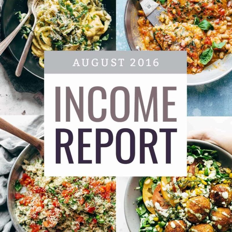 August Income Report