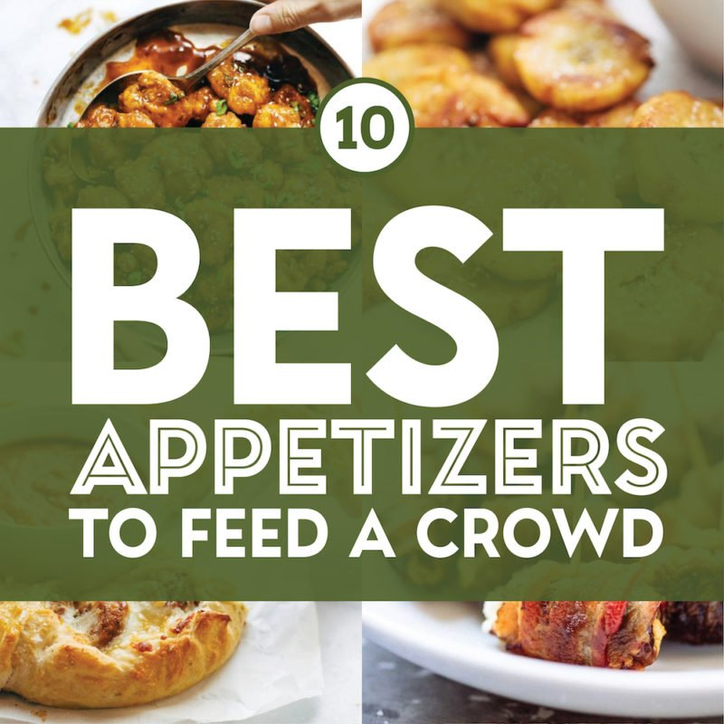 Best appetizer recipes in a collage.