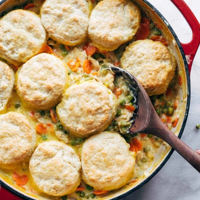 A picture of Chicken Pot Pie with Biscuits