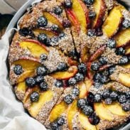 Fresh Blueberry Peach Cake