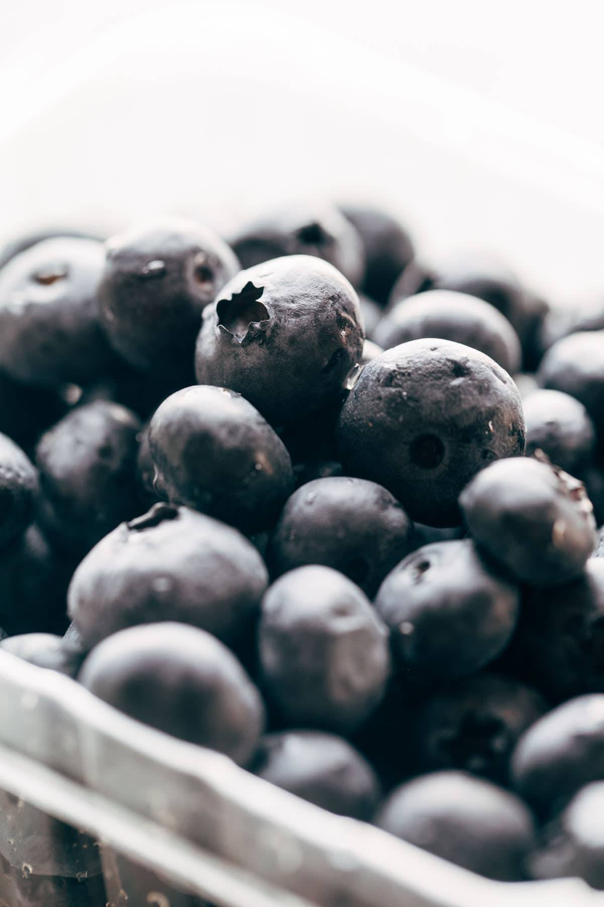 Blueberries for blueberry pancakes.