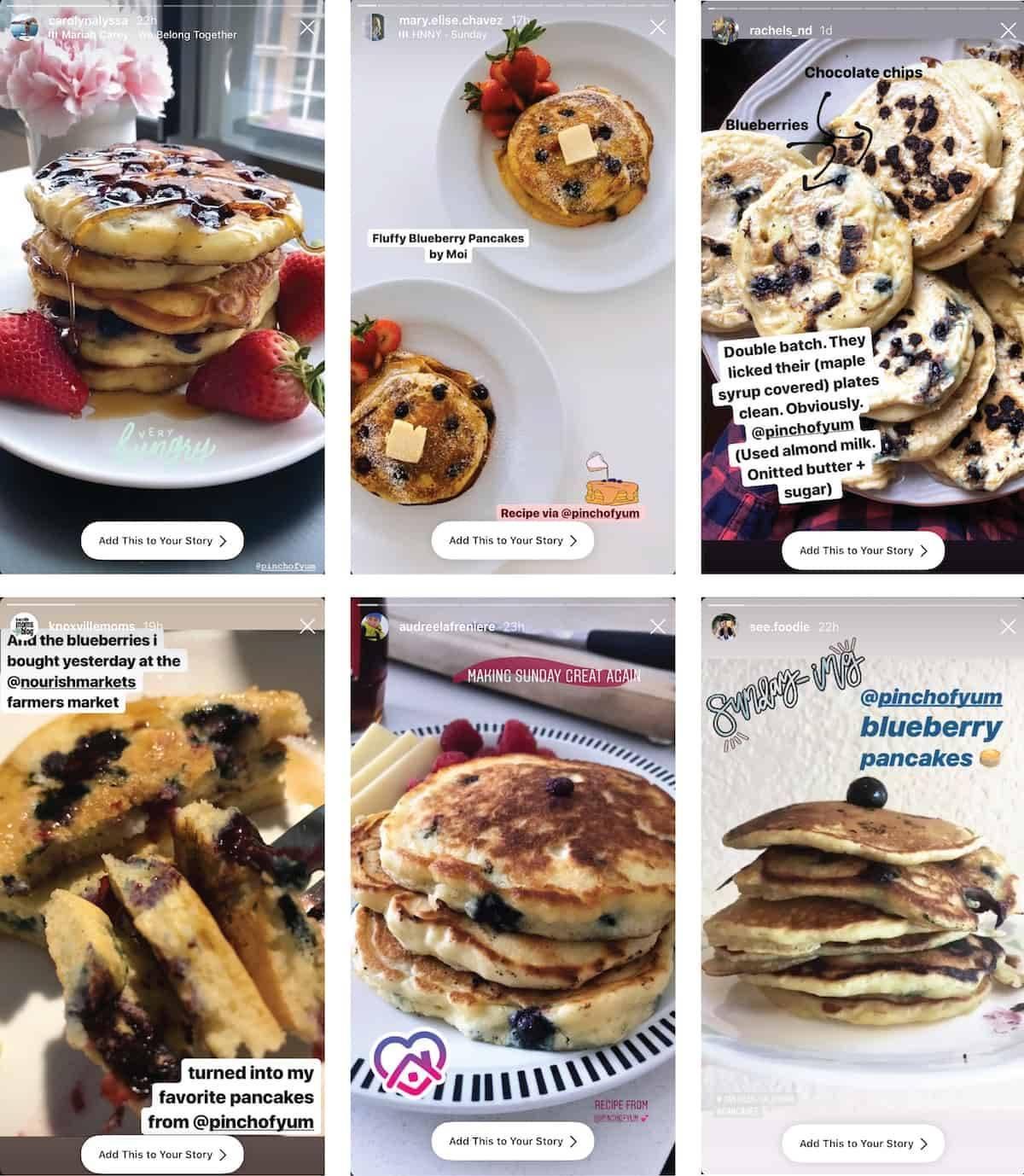 blueberry pancakes, Pinch of Yum