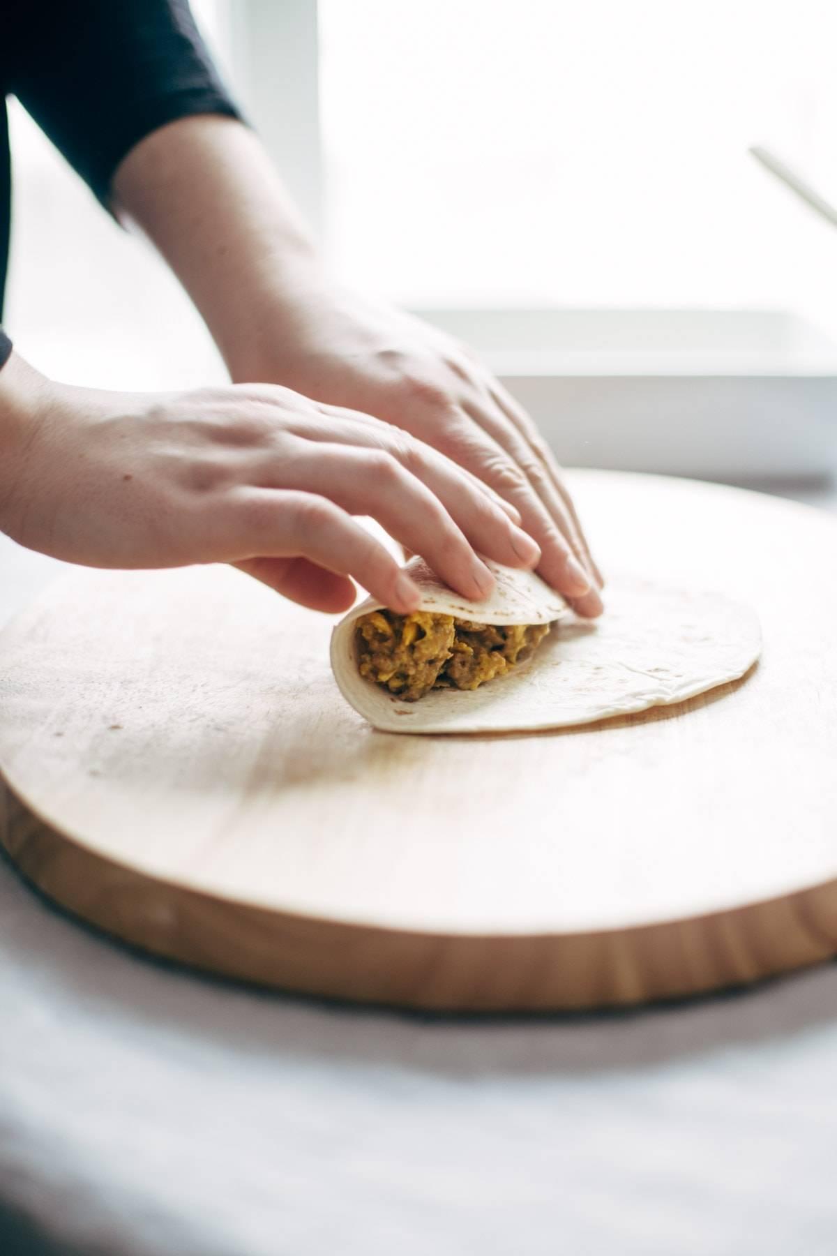 Rolling Breakfast Enchiladas | pinchofyum.com