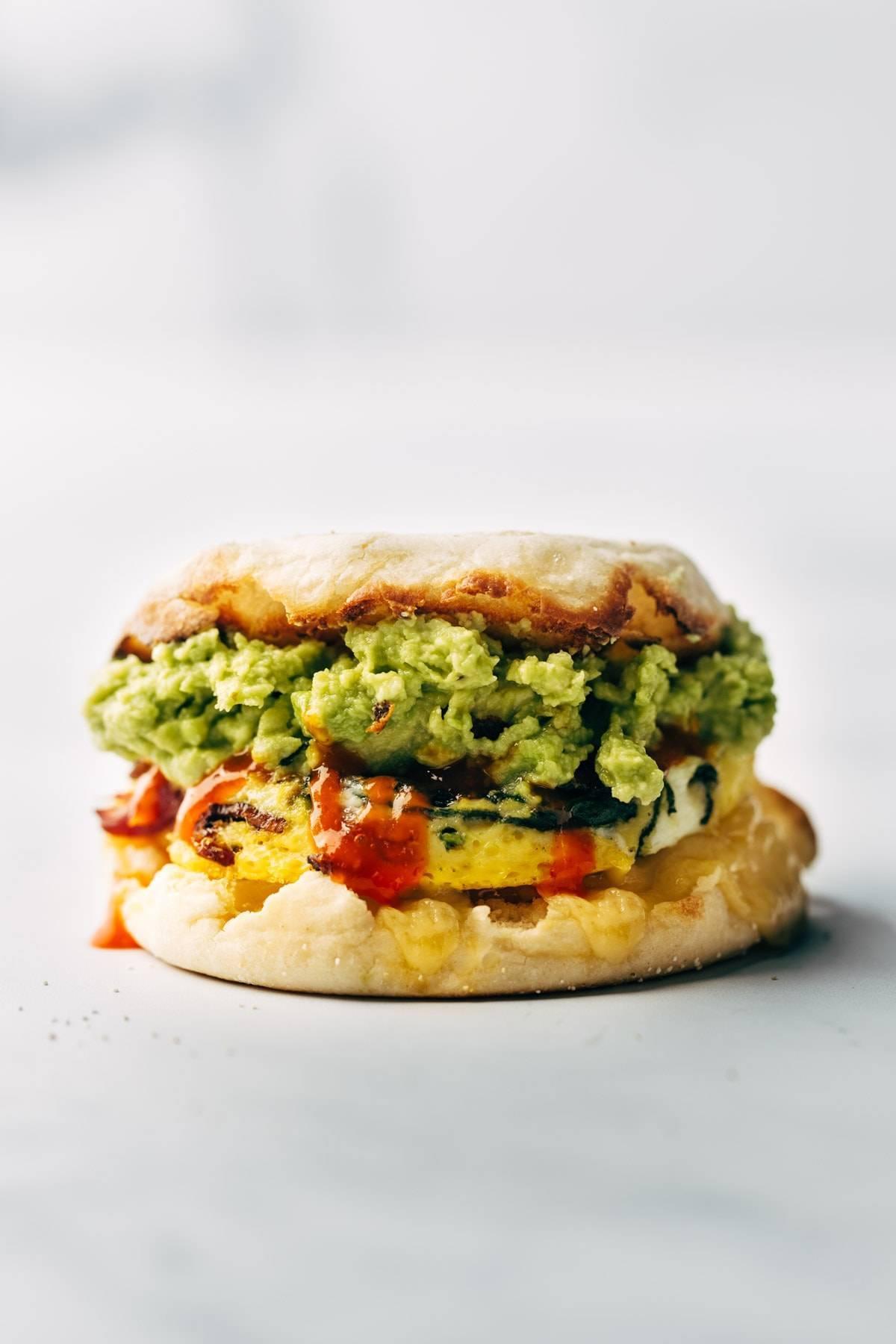Meal prep breakfast sandwich.
