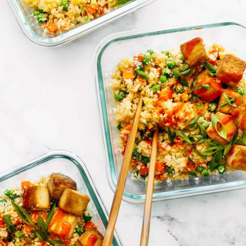 A picture of Cauliflower Fried Rice with Crispy Tofu