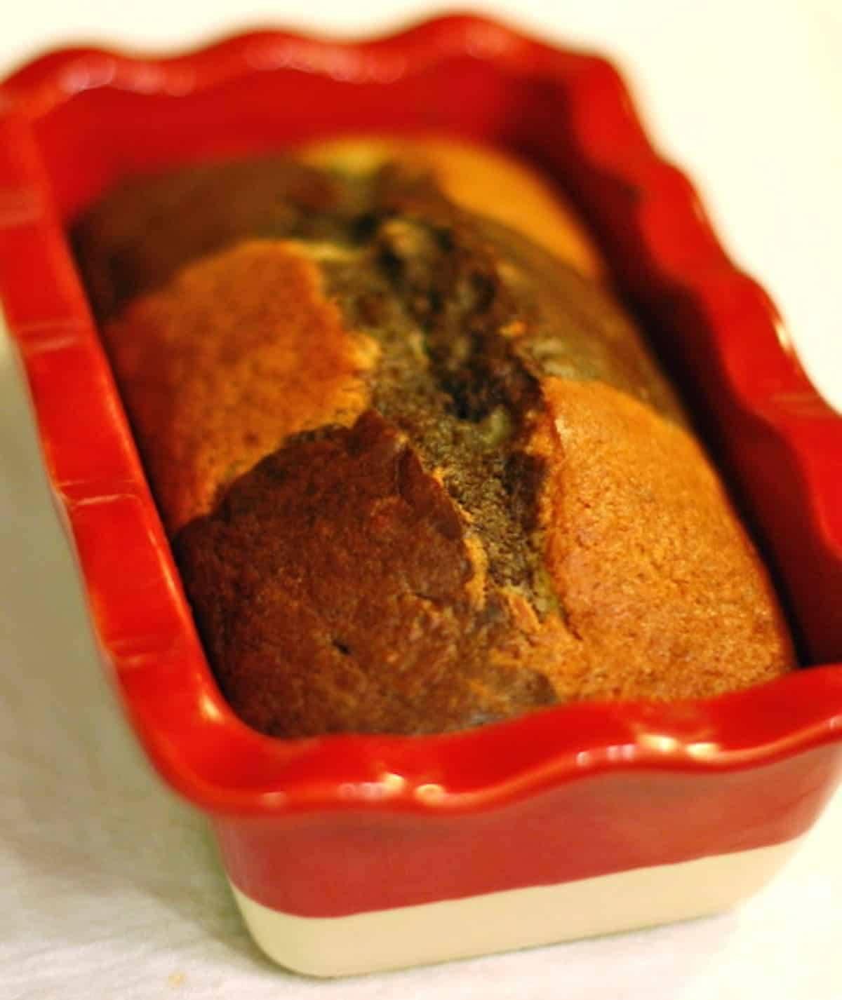 Chocolate Checkered Banana Bread Recipe - Pinch of Yum