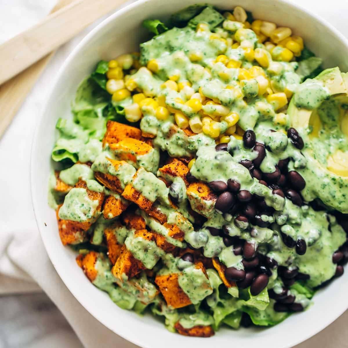 Spicy Southwestern Salad with Avocado Dressing Recipe ...