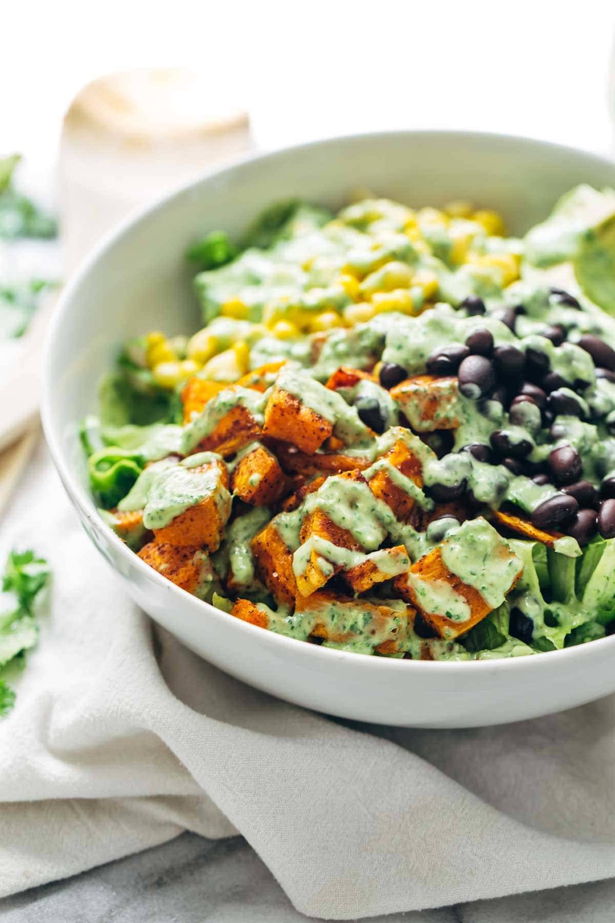 Southwestern Salad in a white bowl.