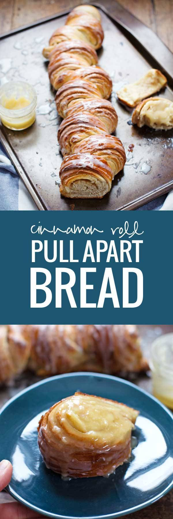 Homemade Cinnamon Roll Pull Apart Bread - so pretty and totally irresistible. | pinchofyum.com